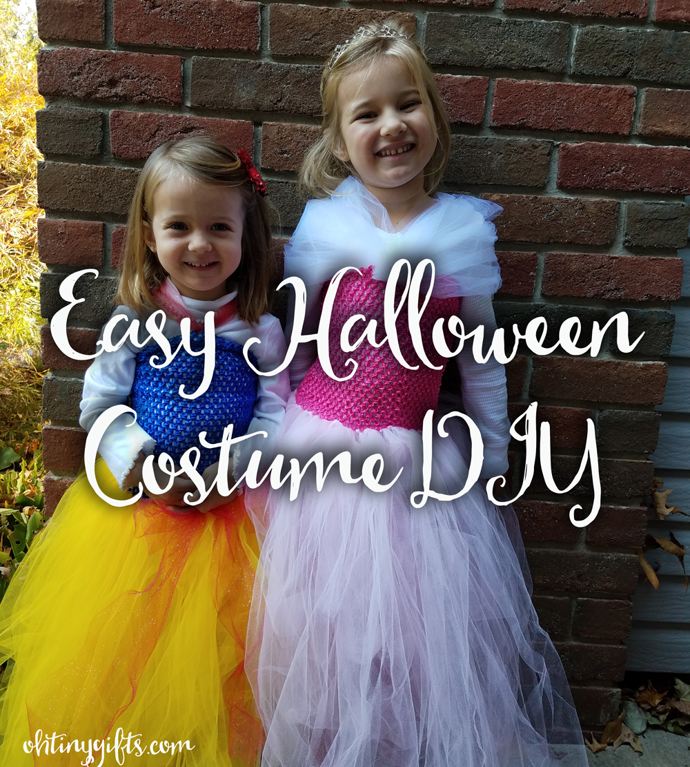 Easy halloween costume diy oh tiny gifts gracie loves princess aurora aka sleeping beauty she is all about the pink and the minute i mentioned making an aurora costume she was sold solutioingenieria Choice Image